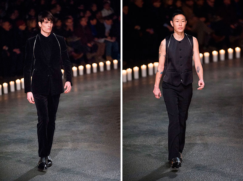 Standing at attention for darksome wang